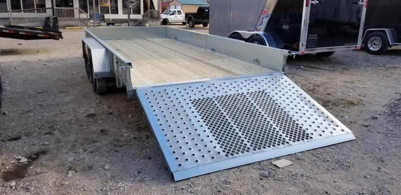 2019 Sure-Trac 7x16 Galvanized High Side Utility w/Fold Flat Gate 7k