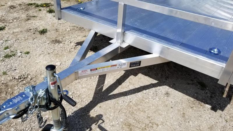 2018 R&R 6x12 UTA Aluminum Utility w/Bifold Ramp 3k