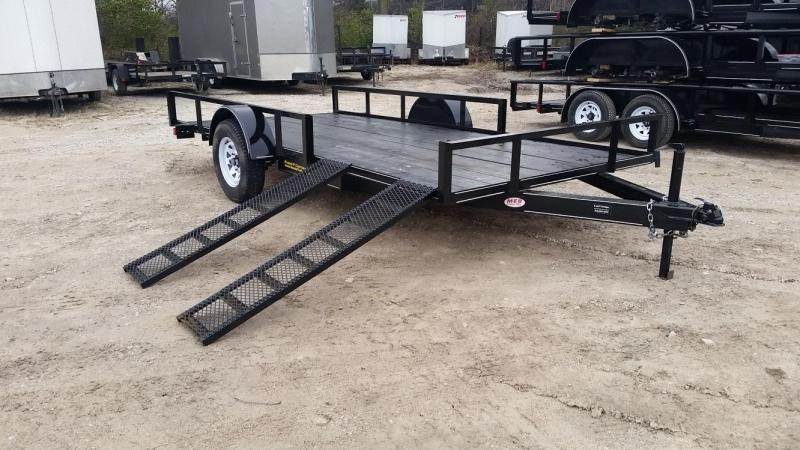 2019 M.E.B 6.4x14 ATV/Utility Trailer w/5' Side Load Ramps 3k