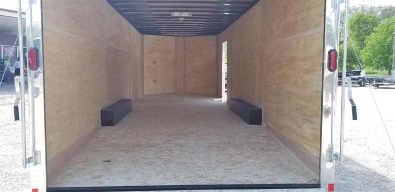2019 Interstate 8.5x24 Enclosed Auto Hauler Trailer w/Spring Assisted Ramp Door 10k