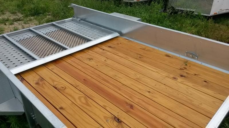 2018 Sure-Trac 7x12 Galvanized High Side Utility w/Gate  3k
