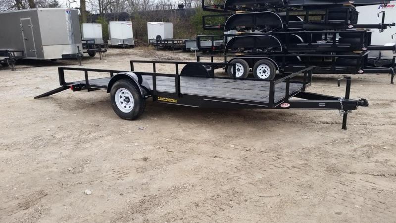 2019 M.E.B. Angle Iron ATV/Utility Trailer w/5' Side Load Ramps 3k