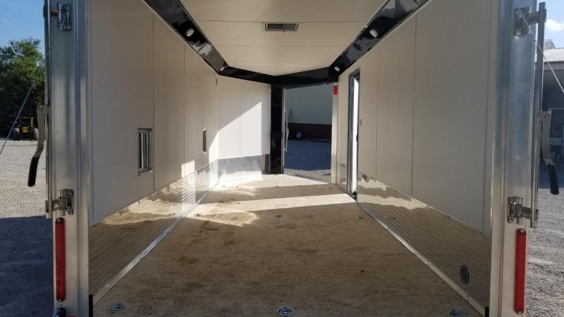 2020 R and R 7x18 PSD All Aluminum Drive Thru 3 Place Snowmobile Trailer 7k
