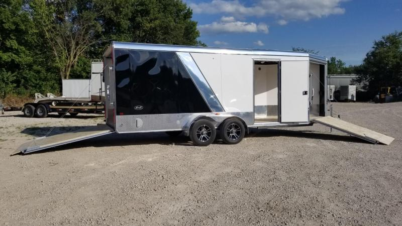 2020 R and R 7x18 PSD All Aluminum Drive Thru 3 Place Snowmobile Trailer 7k