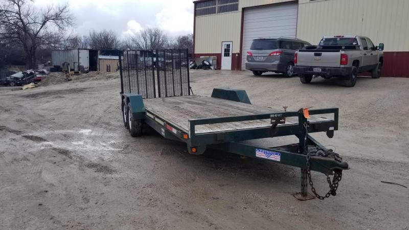 2007 Liberty 7x18 Equipment/Car Hauler/Flatbed Trailer 7k