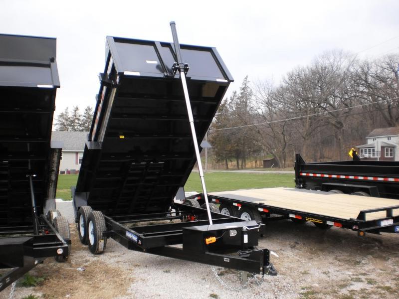 2020 Sure-Trac 82x14 Powder Coated Telescopic Dump Trailer 14k