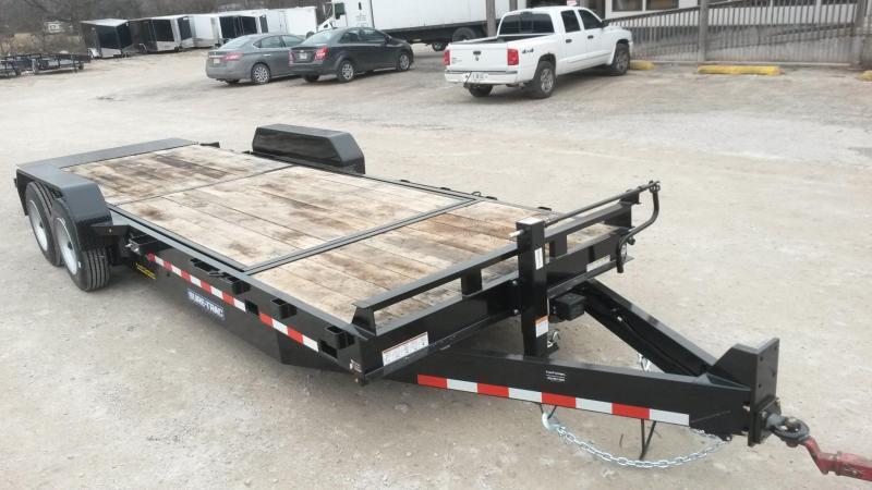 2019 Sure-Trac 7x18+4 Oak Wood Tilt Deck Equipment Trailer w/Stationary 16K