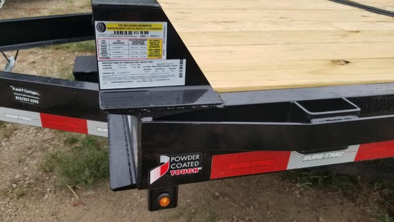 2019 Sure-Trac 7x18+4 Tilt Deck Equipment Trailer w/Stationary 14k