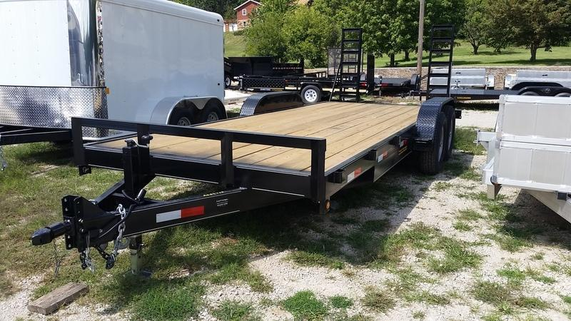 2019 M.E.B. 7x20 Equipment Trailer w/Stand Up Ramps 12k