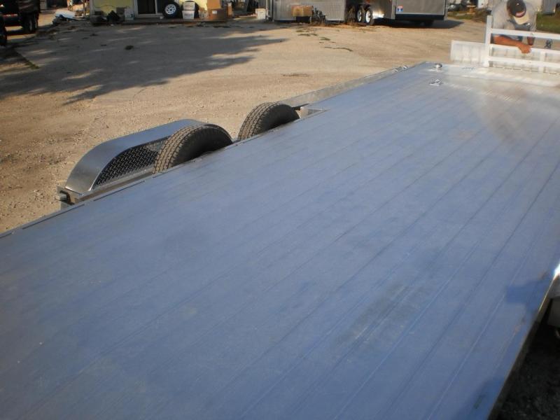 2019 R&R 7x22 All Aluminum Open Car Hauler (Front/Side Load Ability) 10k