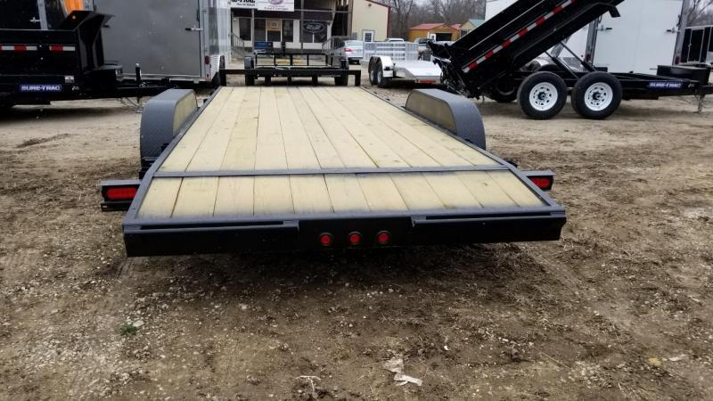 2019 M.E.B 7x20 Treated Wood Deck Auto Hauler 10k