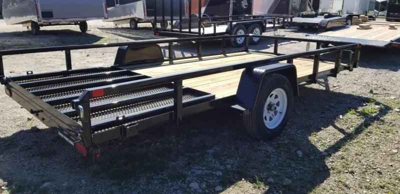 2020 Sure-Trac 7x14 Tube Top Utility Trailer w/Spring Assisted Gate 3k