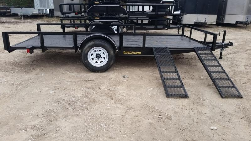 2018 MEB 6.4x12 ATV w/Board holders & 5' ramps