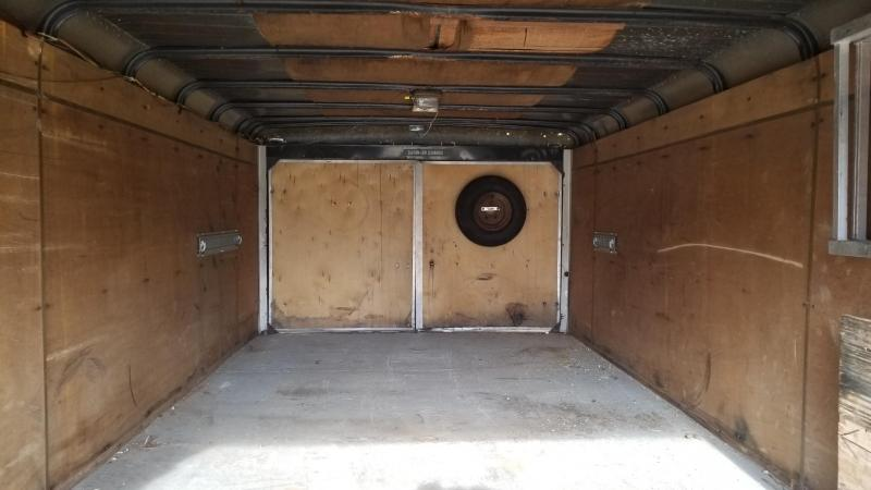 1989 Wells Cargo 7.5x18 Drive Thru Snowmobile Trailer 7k