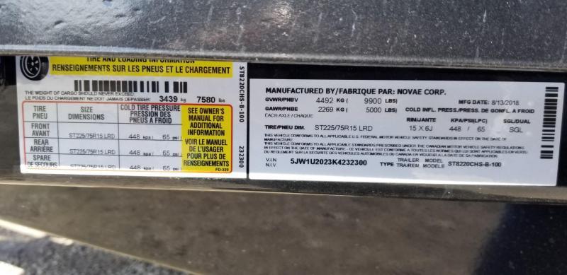 2019 Sure-Trac Steel Deck Car Hauler w/Slide Out Ramps 10k