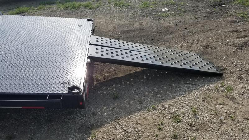 2019 Sure-Trac 7x18 Steel Deck Auto Hauler w/Slide Out Ramps 7k
