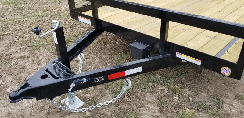 2019 Sure-Trac 7x18 Tube Top Utility Trailer w/Spring Assisted Gate 10k