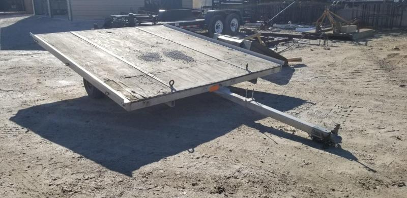 2002 Barron 8.5 x 9.5 Aluminum Snowmobile Trailer 3k