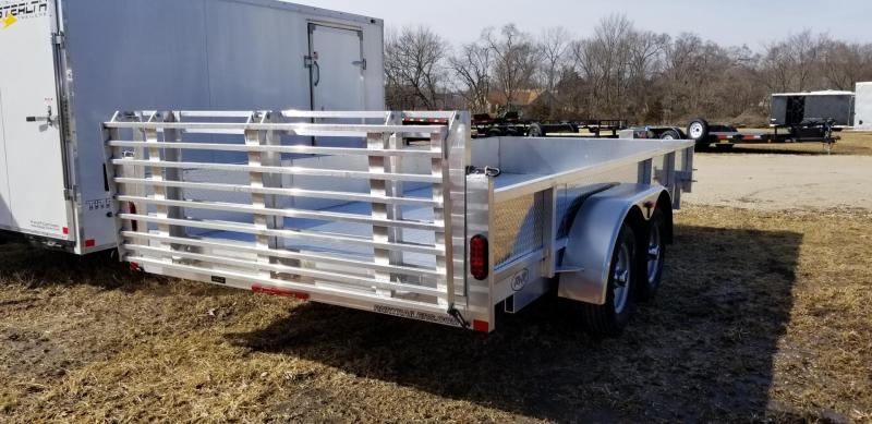 2019 R&R Trailers 7x16 All Aluminum ATP Utility Trailer w/Bifold Ramp 7k