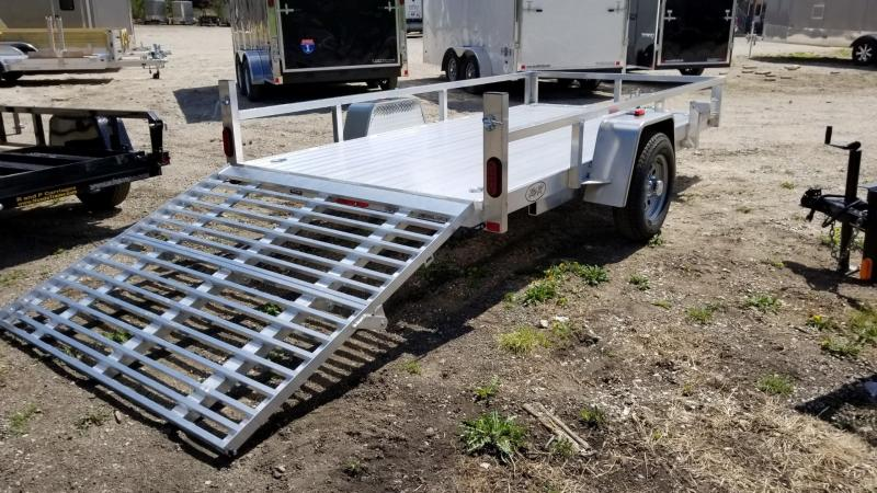 "2020 R and R 7x12 UTA Aluminum Utility w/12"" Sides and a BiFold Gate 3k"