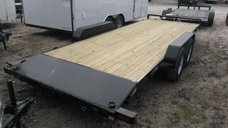 2019 Sure-Trac 7x20 Open Wood Deck Car Hauler 10k