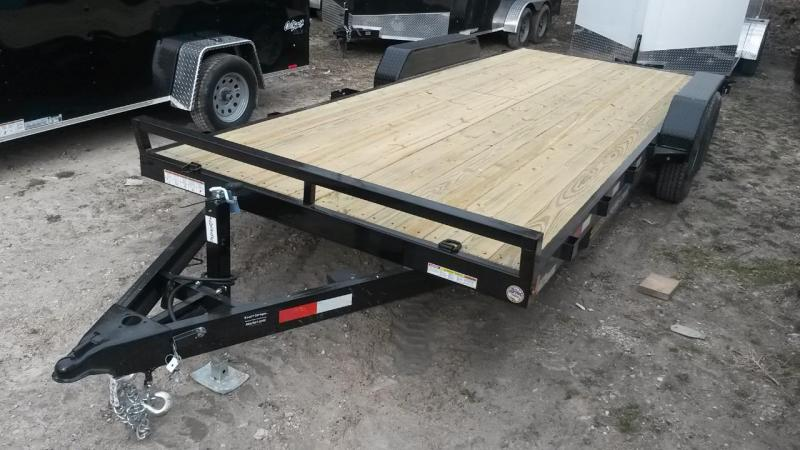 2019 Sure-Trac 7x20 Open Wood Deck Car Hauler 10k