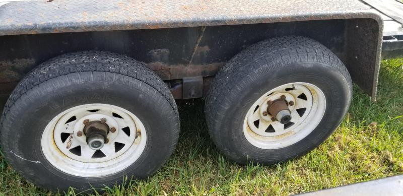 2006 Interstate 7x18 Equipment Trailer w/Stand Up Ramps 10k