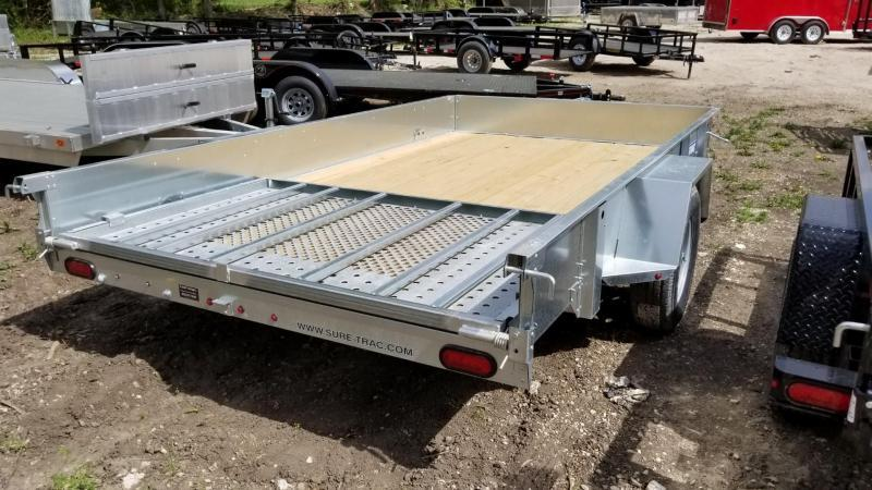 2019 Sure-Trac 7x12 Galvanized High Side Utility w/Spring Assisted Gate 3k