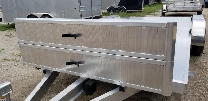 2019 R&R 7x18 All Aluminum Open Deck Auto Hauler 7k