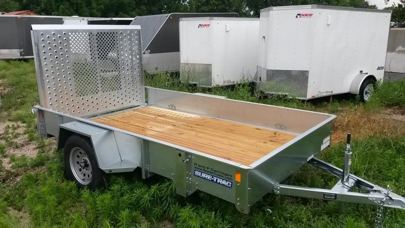 2019 Sure Trac 6x12 Galvanized High Side Utility w/Spring Assisted Gate 3k