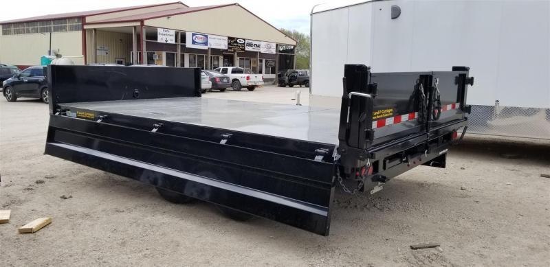 2020 Sure-Trac 96x16 Scissor Deckover Dump w/Fold Down Sides 14k