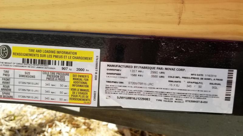 2018 Sure-Trac 5x8 - 3 Board High Side Utility 3k