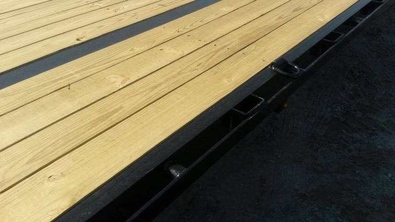 2019 Sure-Trac 8.5x25+5 Treated Deck Equipment Trailer Heavy Duty w/Full Width Ramps 20k