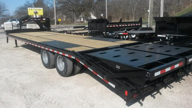 2019 Sure-Trac 8.5x25+5 Heavy Duty Equipment Trailer w/Full Width Ramps 20k