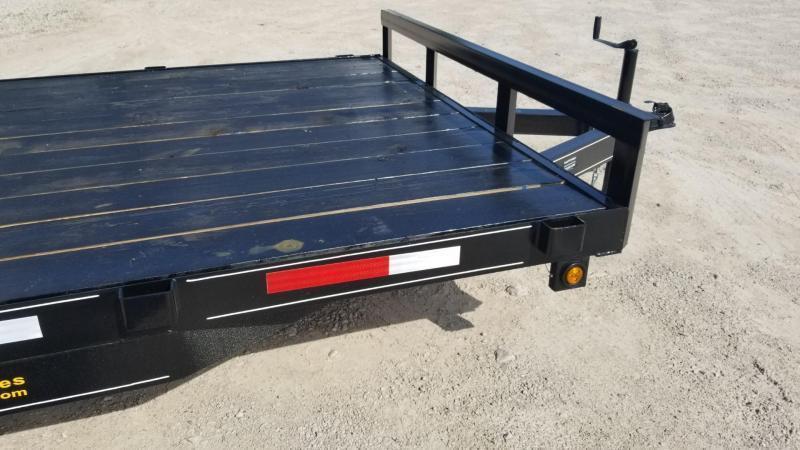 2019 M.E.B 7x18 Wood Deck Open Auto Hauler 7K