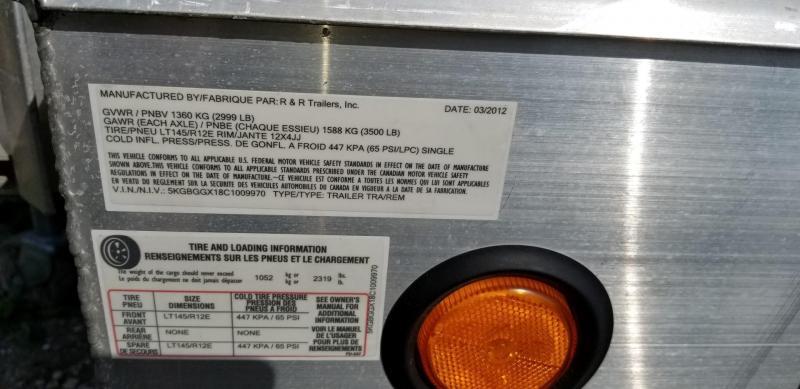 2012 R and R Trailers 7x12 Quad Utility Trailer 3k
