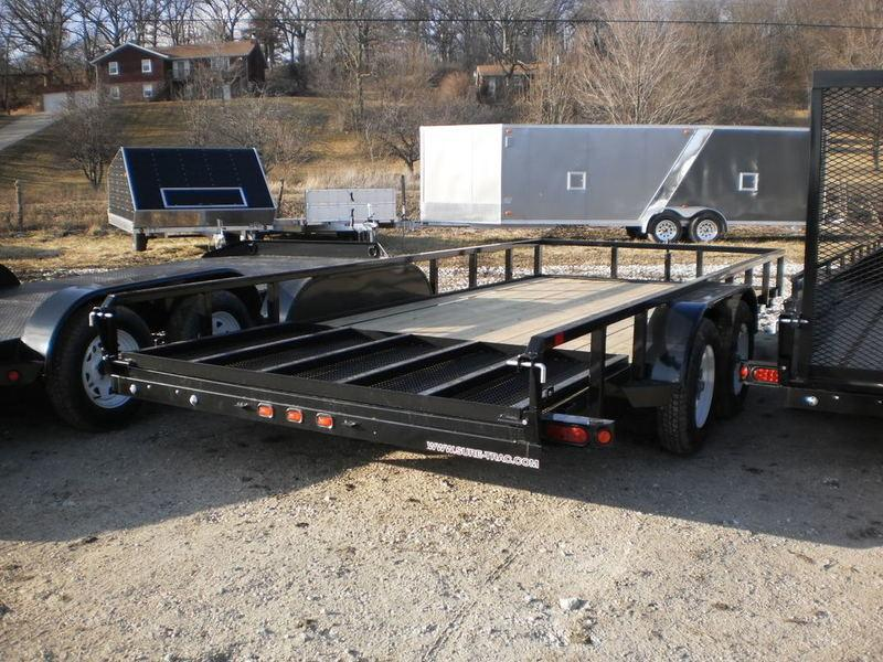 2018 Sure-Trac 7x16 Tube Top Utility Trailer 7k