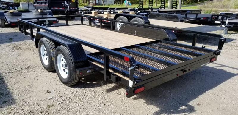 2019 Sure-Trac 7x16 Tube Top Utility Trailer w/Fold Flat Gate 7k