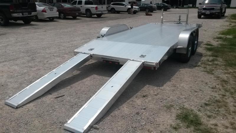 2018 R&R 7x16 Open Deck Aluminum Car Hauler 7k
