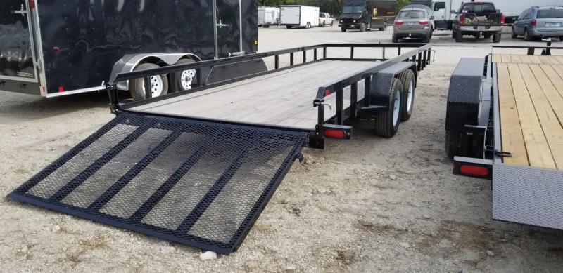 2018 Sure-Trac 7x20 Tube Top Utility Trailer w/Gate 7k