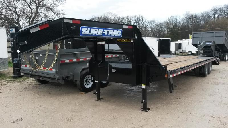 2018 Sure-Trac 8.5x25+5 Deckover Gooseneck Equipment Trailer 20k