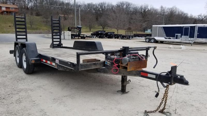 2009 B-B 7x16 Equipment Trailer w/Stand Up Ramps 14k in Ashburn, VA