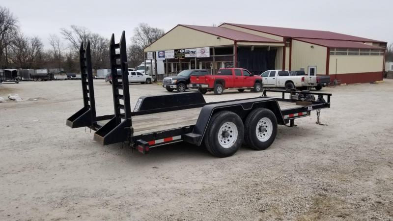 2009 B-B 7x16 Equipment Trailer w/Stand Up Ramps 14k