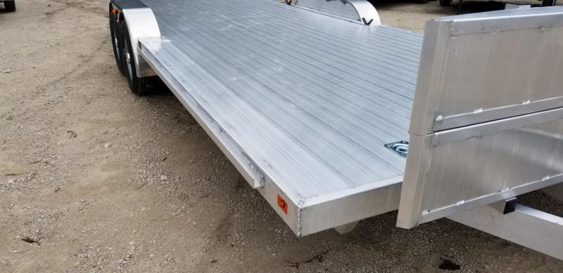 2019 R&R 7x22 All Aluminum Open Auto Hauler w/Wide Front Load 10k