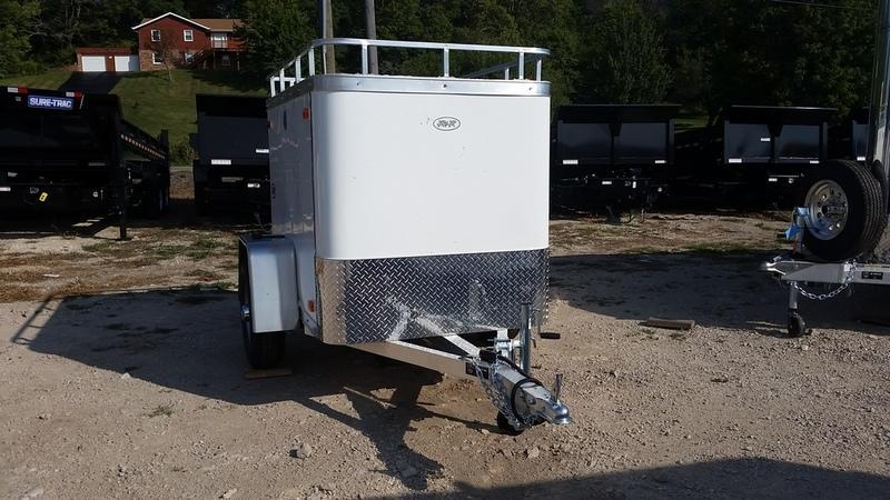 2019 R&R Trailers 4x6 Enclosed All Aluminum Cargo Trailer w/Barn Door & Luggage Rack 2.2k