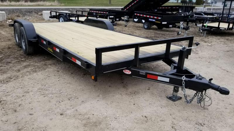 2019 M.E.B 7x20 Wood Deck Car Hauler w/Slide Out Ramps 10K