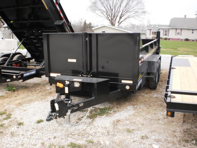 "2018 Sure-Trac 82""x14 Telescopic Lift Dump Trailer 14k"