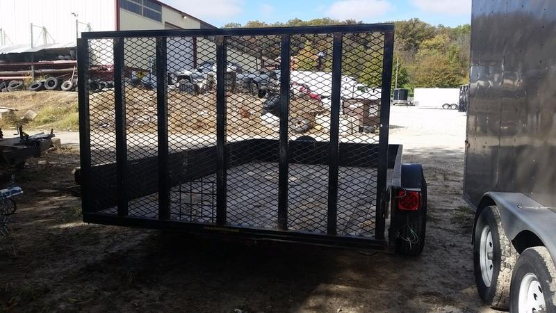 FOR RENT ONLY #10 H&H 7x12 Utility Trailer w/Gate