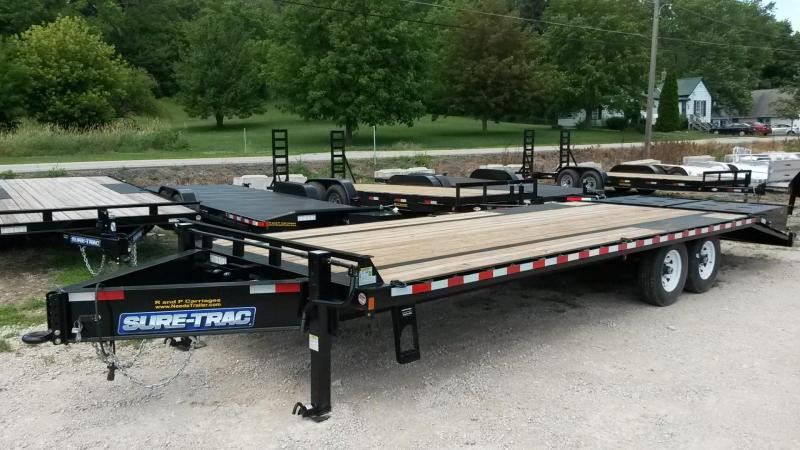 2019 Sure-Trac 8.5x20+5 Deckover Equipment Trailer w/Full Width Ramps 14k