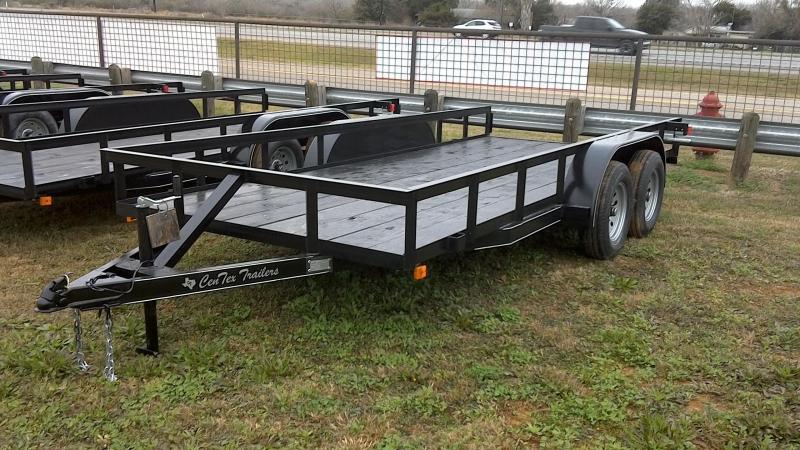 2019 Centex Trailers 76X16 Tandem Axle Utility Trailer